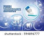whitening toothpaste ads... | Shutterstock .eps vector #594896777