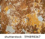 texture of wet wall with brown... | Shutterstock . vector #594898367