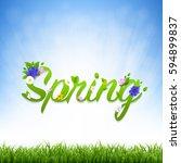 spring banner  | Shutterstock . vector #594899837