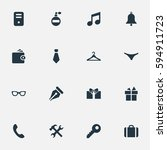 set of 16 simple  icons. can be ...   Shutterstock .eps vector #594911723
