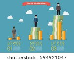 social stratification with... | Shutterstock .eps vector #594921047