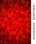 red mosaic background  abstract ... | Shutterstock .eps vector #594921833