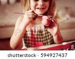 colorful easter eggs star in... | Shutterstock . vector #594927437