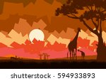 illustration of the african... | Shutterstock .eps vector #594933893
