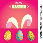 happy easter.greeting card with ... | Shutterstock .eps vector #594960287
