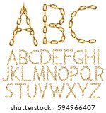 vector alphabet letters made... | Shutterstock .eps vector #594966407