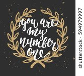 vector card with hand drawn... | Shutterstock .eps vector #594979997