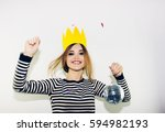 birthday party  new year... | Shutterstock . vector #594982193