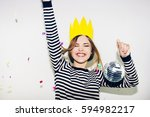 birthday party  new year... | Shutterstock . vector #594982217