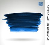 brush stroke and texture.... | Shutterstock .eps vector #594993197