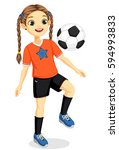 illustration of young soccer... | Shutterstock .eps vector #594993833