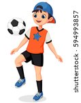 illustration of young soccer... | Shutterstock .eps vector #594993857