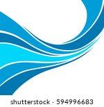 water wave logo abstract design.... | Shutterstock .eps vector #594996683