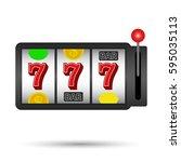 slot machine  icon. vector... | Shutterstock .eps vector #595035113