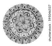 mandalas for coloring book.... | Shutterstock .eps vector #595046537