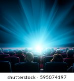 Viewers Watch Shining Light At...