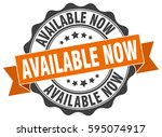 available now. stamp. sticker.... | Shutterstock .eps vector #595074917
