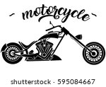 motorcycle icons | Shutterstock .eps vector #595084667