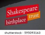 stratford upon acon  uk   march ... | Shutterstock . vector #595093163