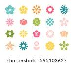 Set Of Minimalistic Flowers...