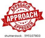 approach. stamp. sticker. seal. ... | Shutterstock .eps vector #595107803