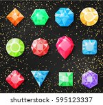 precious stones  isolated on a... | Shutterstock .eps vector #595123337