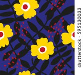 beautiful floral pattern.... | Shutterstock .eps vector #595130033
