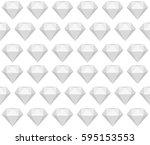 greyscale seamless diamond  ... | Shutterstock .eps vector #595153553