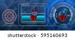 fruitshake concept. 3d printing ... | Shutterstock .eps vector #595160693