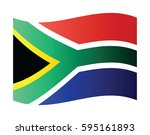waving flag of south africa. | Shutterstock .eps vector #595161893