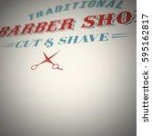 retro barber logo background | Shutterstock . vector #595162817