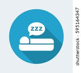 vector illustration of sleep... | Shutterstock .eps vector #595164347