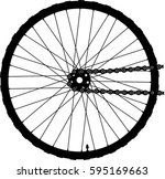 bike wheel and chain | Shutterstock .eps vector #595169663