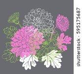 decorative floral background...   Shutterstock .eps vector #595175687