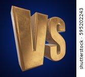 versus logo. vs letters 3d... | Shutterstock . vector #595202243