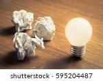 learn from mistake  glowing... | Shutterstock . vector #595204487