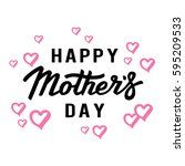 happy mothers day card with... | Shutterstock .eps vector #595209533