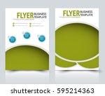 abstract flyer design... | Shutterstock .eps vector #595214363