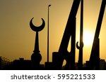 masjid silhoeutte | Shutterstock . vector #595221533