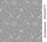 vector seamless pattern with... | Shutterstock .eps vector #595223777