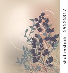 abstract floral background | Shutterstock .eps vector #59525317