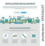application development concept ... | Shutterstock .eps vector #595256147
