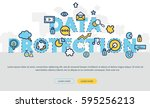 data protection concept for web ... | Shutterstock .eps vector #595256213