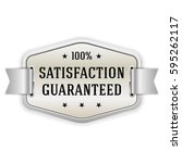 silver satisfaction guaranteed... | Shutterstock .eps vector #595262117