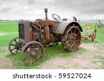 Vintage Old Tractor. Saaremaa...