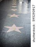 hollywood  ca   october 12 ... | Shutterstock . vector #595293917