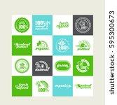 set of elements for design  ... | Shutterstock .eps vector #595300673