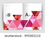 modern business brochure or... | Shutterstock .eps vector #595302113