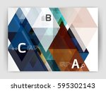 modern business brochure or... | Shutterstock .eps vector #595302143