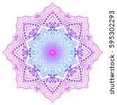 mandala. round ornament pattern.... | Shutterstock .eps vector #595302293